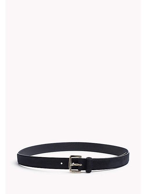TOMMY HILFIGER Nubuck Leather Belt - TOMMY NAVY -  Belts - main image