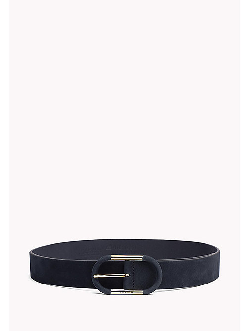 TOMMY HILFIGER Nubuck Leather Belt - TOMMY NAVY - TOMMY HILFIGER Belts - main image