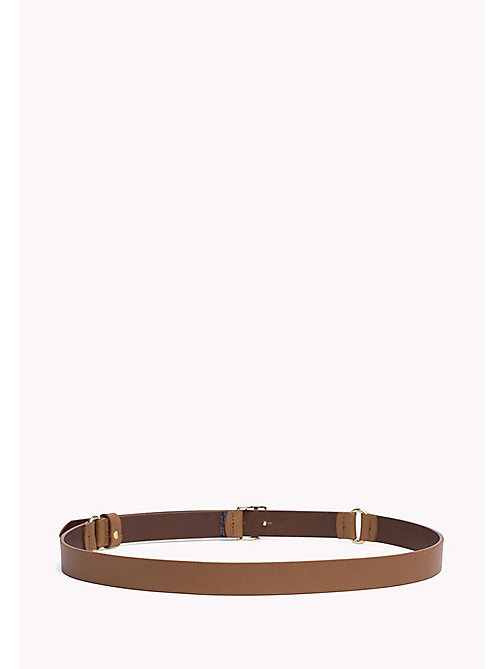 TOMMY HILFIGER Leather Belt - TAN - TOMMY HILFIGER Belts - detail image 1