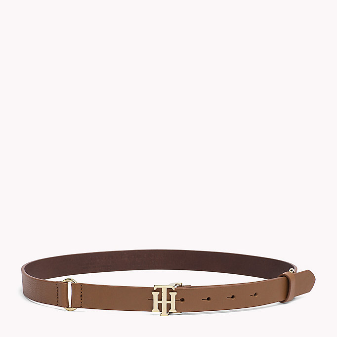 TOMMY HILFIGER Leather Belt - BLACK - TOMMY HILFIGER Women - main image