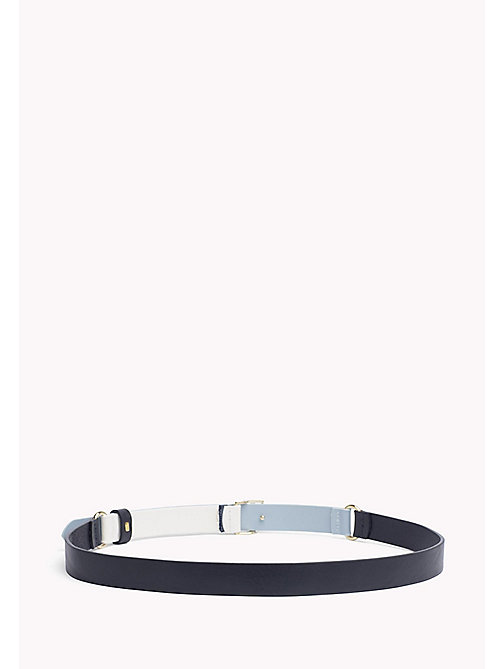 TOMMY HILFIGER Leather Belt - NAVY - TOMMY HILFIGER Belts - detail image 1