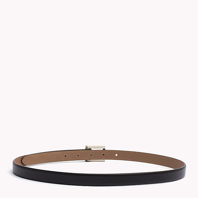 TOMMY HILFIGER Painted Buckle Leather Belt - TOMMY NAVY - TOMMY HILFIGER Women - detail image 1