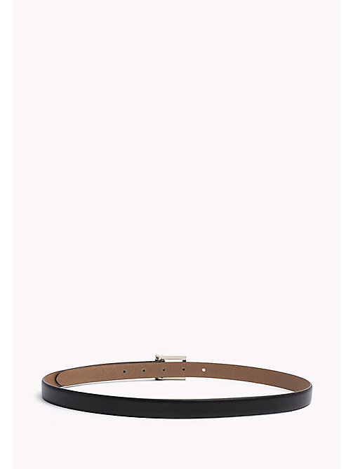 TOMMY HILFIGER Painted Buckle Leather Belt - BLACK - TOMMY HILFIGER Belts - detail image 1