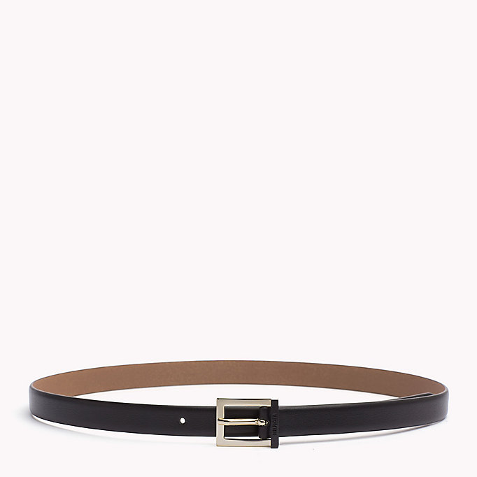 TOMMY HILFIGER Painted Buckle Leather Belt - TOMMY NAVY - TOMMY HILFIGER Women - main image