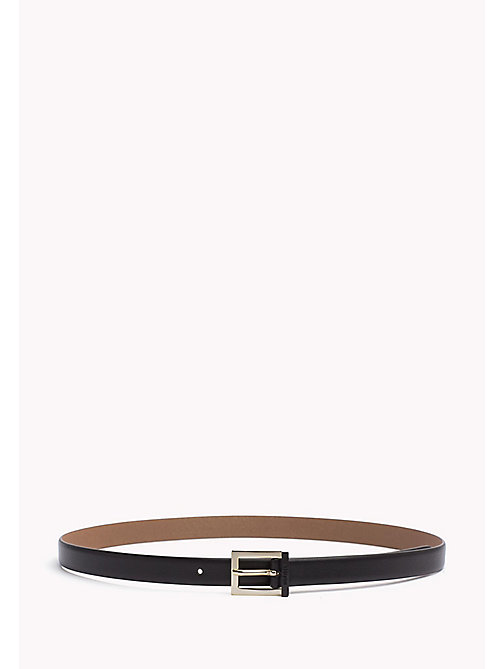 TOMMY HILFIGER Painted Buckle Leather Belt - BLACK - TOMMY HILFIGER Belts - main image