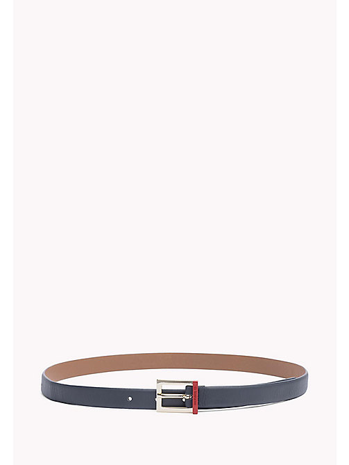 TOMMY HILFIGER Painted Buckle Leather Belt - TOMMY NAVY - TOMMY HILFIGER Belts - main image
