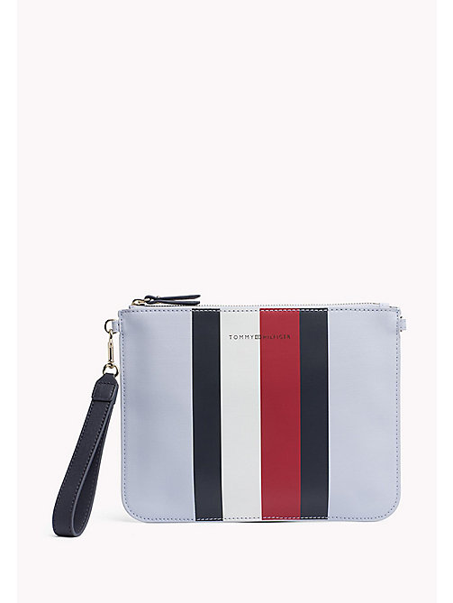 TOMMY HILFIGER Mix 'n' Match Canvas Stripe Clutch - CORP STRIPE - TOMMY HILFIGER Gifts for Her - main image