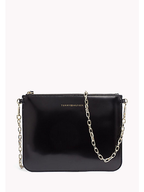 TOMMY HILFIGER Mix 'n' Match Patent Crossover Bag - BLACK - TOMMY HILFIGER Clutch Bags - main image