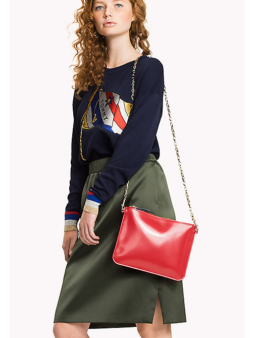 TOMMY HILFIGER Torba na ramię Mix'n'Match ze skóry patentowej - TOMMY RED - TOMMY HILFIGER Gifts for Her - detail image 1