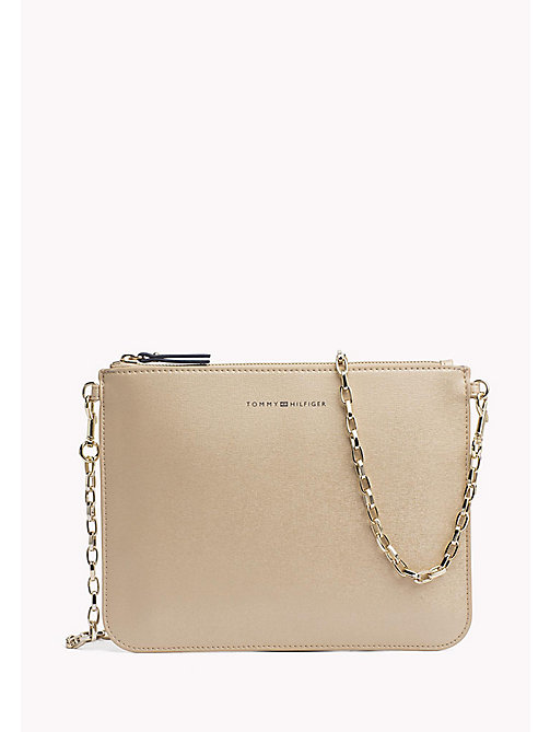 TOMMY HILFIGER Mix 'n' Match Metallic Crossover Bag - GOLD - TOMMY HILFIGER Clutch Bags - main image