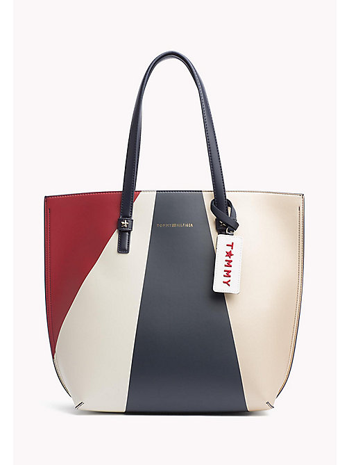 TOMMY HILFIGER Large Geometric Tote Bag - GEO METALLIC - TOMMY HILFIGER Bags - main image