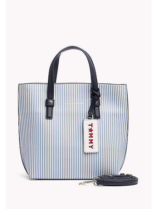 TOMMY HILFIGER Small Striped Crossover Tote Bag - STRIPE - TOMMY HILFIGER Bags - main image
