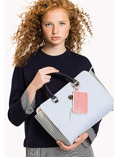 TOMMY HILFIGER Stripe Satchel - STRIPE MIX - TOMMY HILFIGER Bags - detail image 1