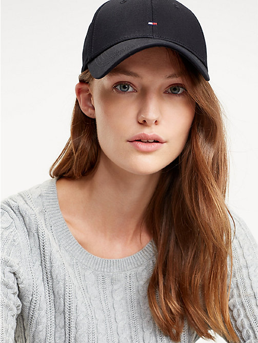 TOMMY HILFIGER Classic Logo Baseball Cap - BLACK - TOMMY HILFIGER Caps & Beanies - detail image 1