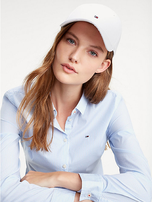 TOMMY HILFIGER Classic Logo Baseball Cap - BRIGHT WHITE - TOMMY HILFIGER Caps & Beanies - detail image 1
