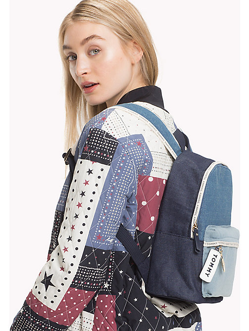 TOMMY HILFIGER Mini Denim Backpack - DENIM MIX - TOMMY HILFIGER Backpacks - detail image 1