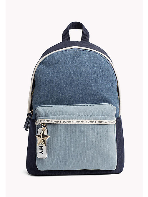 TOMMY HILFIGER Mini Denim Backpack - DENIM MIX - TOMMY HILFIGER VACATION FOR HER - main image