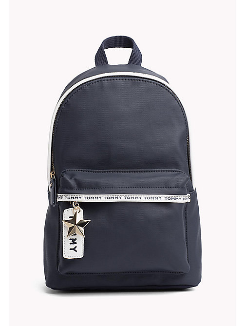 TOMMY HILFIGER Mini Canvas Backpack - TOMMY NAVY - TOMMY HILFIGER VACATION FOR HER - main image
