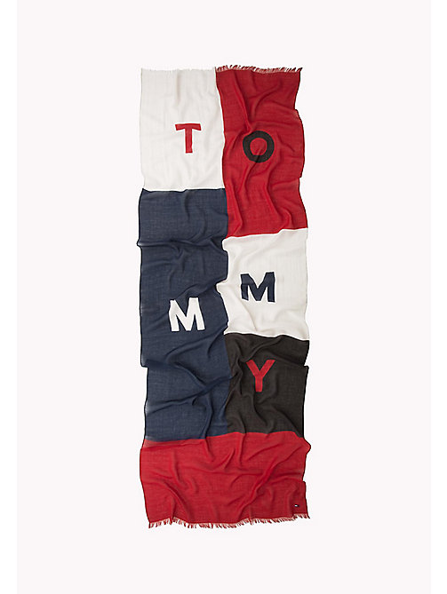 TOMMY JEANS Colour Block Scarf - CORPORATE - TOMMY JEANS Hats, Gloves & Scarves - detail image 1