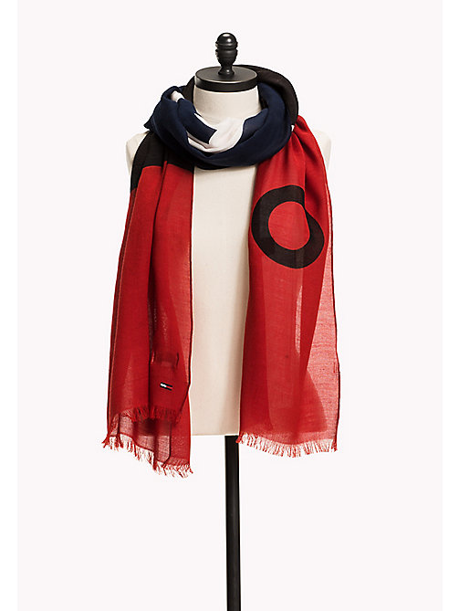 TOMMY JEANS Colour Block Scarf - CORPORATE - TOMMY JEANS Hats, Gloves & Scarves - main image