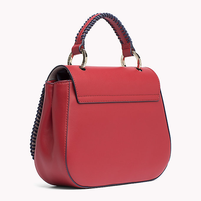 TOMMY HILFIGER Lockable Leather Bag - TOMMY NAVY - TOMMY HILFIGER Bags & Accessories - detail image 1