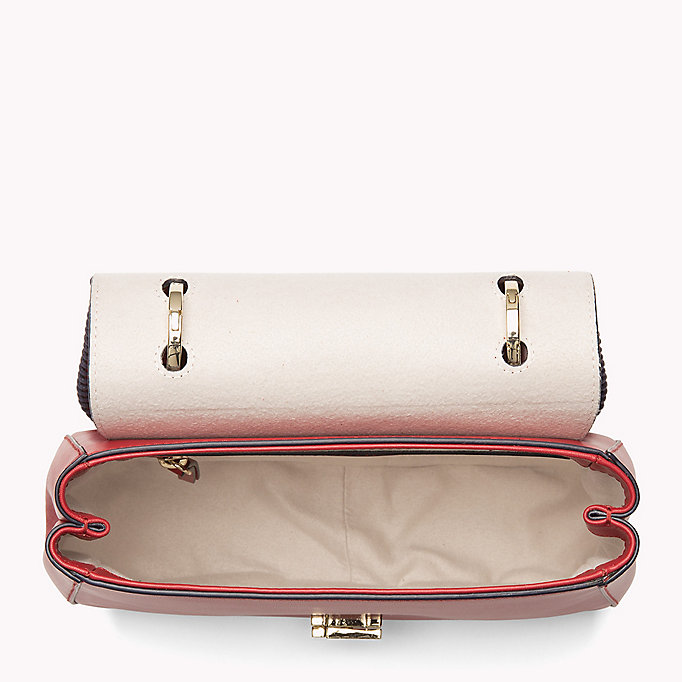 TOMMY HILFIGER Lockable Leather Bag - TOMMY NAVY - TOMMY HILFIGER Bags & Accessories - detail image 2