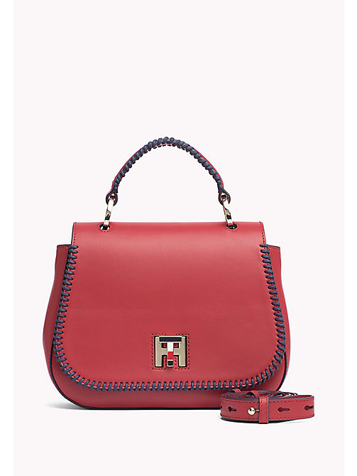 TOMMY HILFIGER Lockable Leather Bag - TANGO RED - TOMMY HILFIGER The Office Edit - main image
