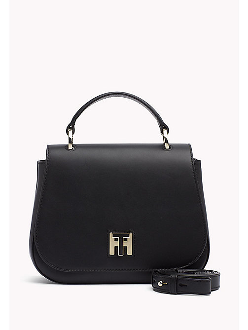 TOMMY HILFIGER Leather Cross Body Bag - BLACK - TOMMY HILFIGER Crossbody Bags - main image