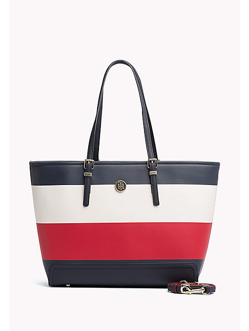TOMMY HILFIGER Stripe Tote Bag - CORPORATE MIX - TOMMY HILFIGER Tote Bags - main image