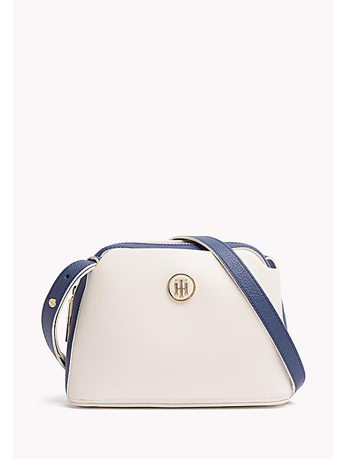 TOMMY HILFIGER Monogram Cross-Body Bag - BRIGHT WHITE/ DUTCH BLUE - TOMMY HILFIGER Crossbody Bags - main image