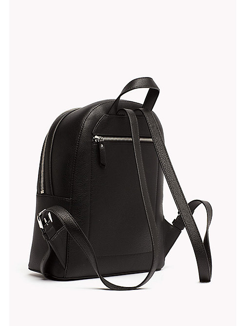 TOMMY HILFIGER Mini Backpack with Contrast Detailing - BLACK - TOMMY HILFIGER Backpacks - detail image 1
