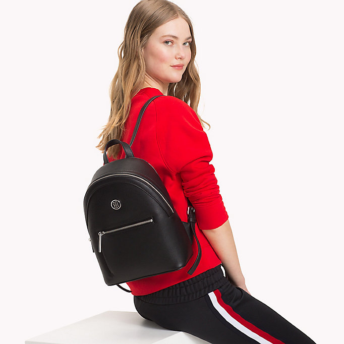 TOMMY HILFIGER Mini Backpack with Contrast Detailing - TOMMY NAVY - TOMMY HILFIGER Women - detail image 3