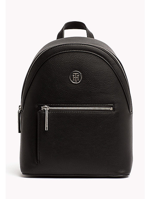 TOMMY HILFIGER Mini Backpack with Contrast Detailing - BLACK - TOMMY HILFIGER Backpacks - main image