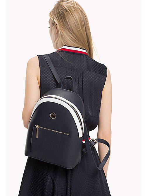 TOMMY HILFIGER Mini Backpack with Contrast Detailing - TOMMY NAVY - TOMMY HILFIGER Backpacks - detail image 1