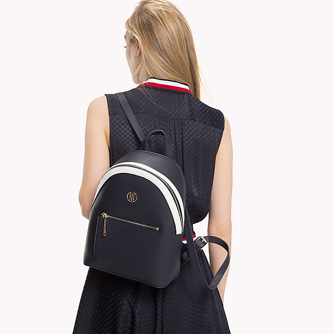 TOMMY HILFIGER Mini Backpack with Contrast Detailing - BRIGHT WHITE/ DUTCH BLUE - TOMMY HILFIGER Women - detail image 3