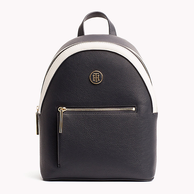 TOMMY HILFIGER Mini Backpack with Contrast Detailing - BRIGHT WHITE/ DUTCH BLUE - TOMMY HILFIGER Women - main image