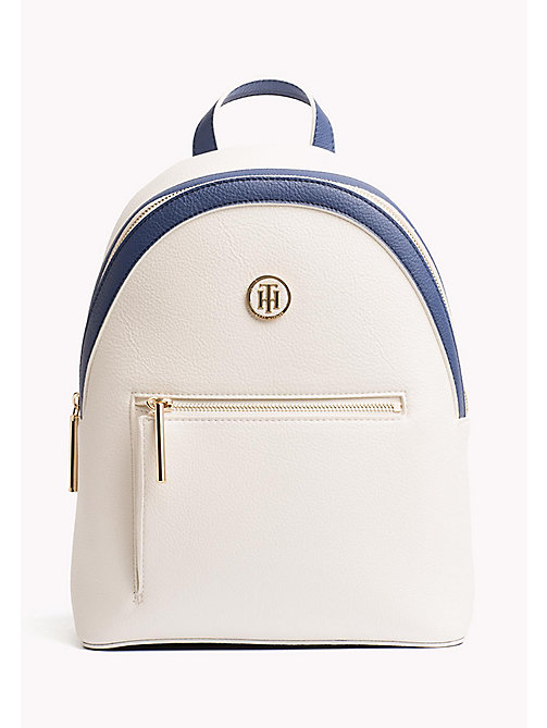 TOMMY HILFIGER Mini Backpack with Contrast Detailing - BRIGHT WHITE/ DUTCH BLUE - TOMMY HILFIGER Backpacks - main image