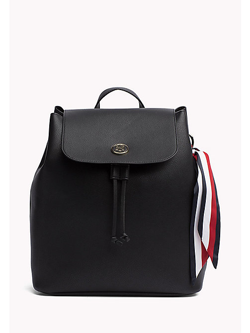 Embellished Drawstring Backpack - BLACK - TOMMY HILFIGER Bags & Accessories - main image