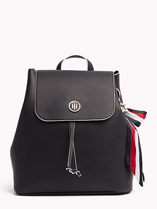 TOMMY HILFIGER Embellished Drawstring Backpack - TOMMY NAVY - TOMMY HILFIGER Backpacks - main image