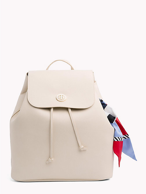 TOMMY HILFIGER Embellished Drawstring Backpack - TAPIOCA - TOMMY HILFIGER Backpacks - main image