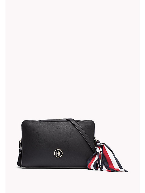 TOMMY HILFIGER Tommy Monogram Cross Body Bag - BLACK - TOMMY HILFIGER Crossover Bags - main image