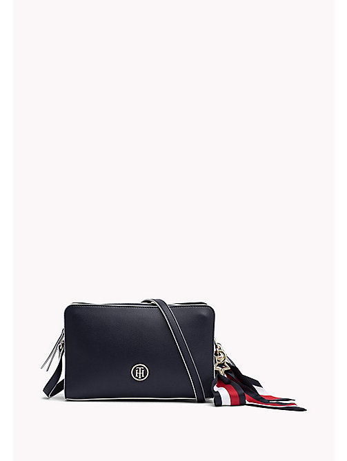 TOMMY HILFIGER Tommy Monogram Cross Body Bag - TOMMY NAVY - TOMMY HILFIGER Crossover Bags - main image