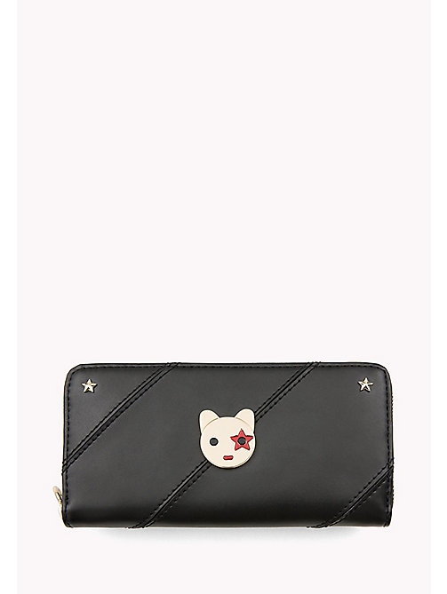 TOMMY HILFIGER Mascot Leather Wallet - BLACK - TOMMY HILFIGER Women - main image