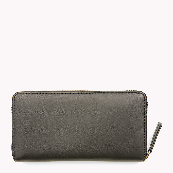 TOMMY HILFIGER Smooth Leather Zip Around Wallet - COGNAC - TOMMY HILFIGER Women - detail image 1