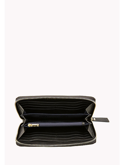 TOMMY HILFIGER Smooth Leather Zip Around Wallet - BLACK - TOMMY HILFIGER Purses - detail image 1