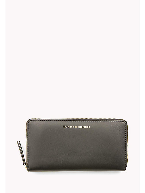 TOMMY HILFIGER Smooth Leather Zip Around Wallet - BLACK - TOMMY HILFIGER Bags & Accessories - main image