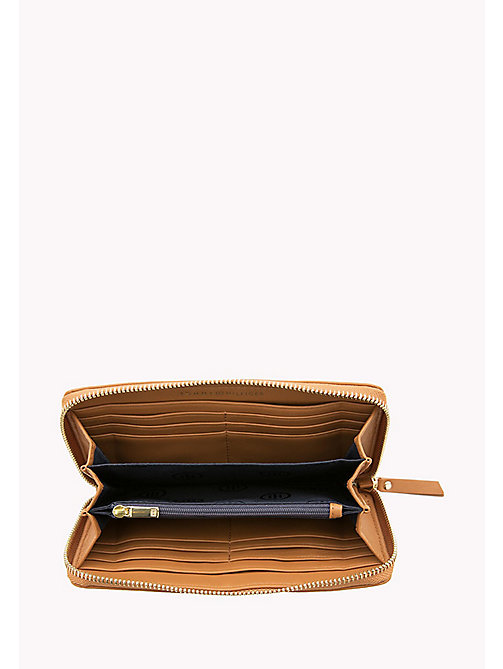 TOMMY HILFIGER Smooth Leather Zip Around Wallet - COGNAC - TOMMY HILFIGER Purses - detail image 1