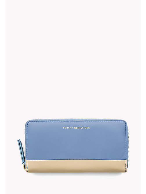 TOMMY HILFIGER Smooth Leather Zip Around Wallet - DUTCH BLUE MIX - TOMMY HILFIGER Purses - main image