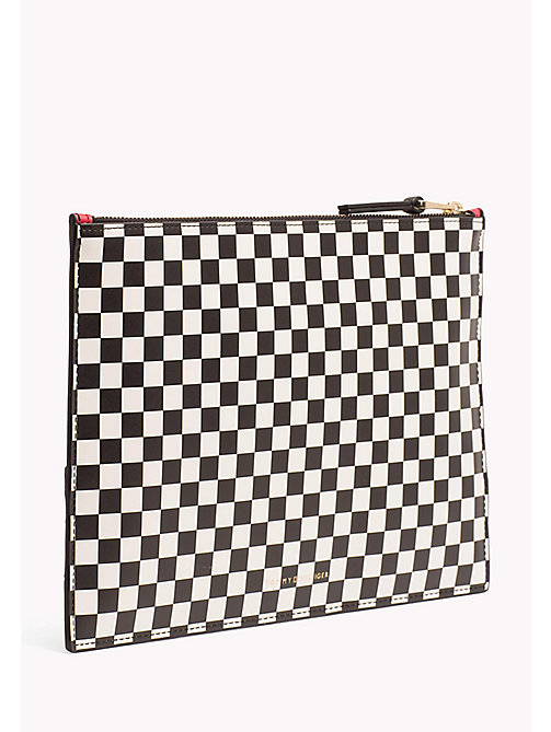 TOMMY HILFIGER Stripe iPad Pouch - CHECKER BOARD - TOMMY HILFIGER Clutch Bags - detail image 1