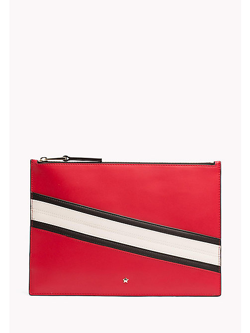 TOMMY HILFIGER Stripe iPad Pouch - CHECKER BOARD - TOMMY HILFIGER Bags & Accessories - main image